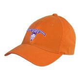 Orange Twill Unstructured Low Profile Hat-Arched Northwestern State w/Demon Head