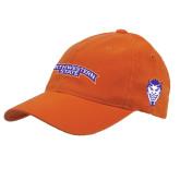 Orange Flexfit Mid Profile Hat-Arched Northwestern State