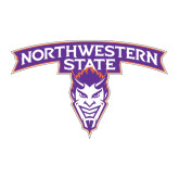 Large Magnet-Arched Northwestern State w/Demon Head, 12 inches wide