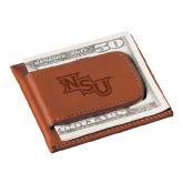 Cutter & Buck Chestnut Money Clip Card Case-NSU Engraved
