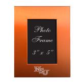 Orange Brushed Aluminum 3 x 5 Photo Frame-NSU Engraved