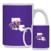 Full Color White Mug 15oz-Louisiana w/ N