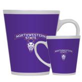 Full Color Latte Mug 12oz-Arched Northwestern State w/Demon Head