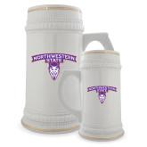 Full Color Decorative Ceramic Mug 22oz-Arched Northwestern State w/Demon Head