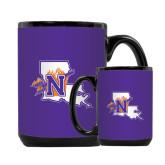 Full Color Black Mug 15oz-Louisiana w/ N