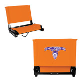 Stadium Chair Orange-Arched Northwestern State w/Demon Head