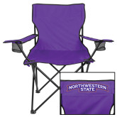 Deluxe Purple Captains Chair-Arched Northwestern State