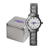Ladies Stainless Steel Fashion Watch-Arched Northwestern State