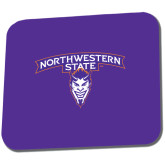 Full Color Mousepad-Arched Northwestern State w/Demon Head
