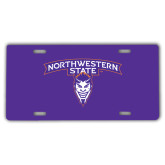 License Plate-Arched Northwestern State w/Demon Head