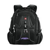 Wenger Swiss Army Mega Black Compu Backpack-Arched Northwestern State