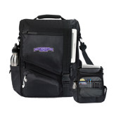 Momentum Black Computer Messenger Bag-Arched Northwestern State