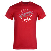 Red T Shirt-Basketball Design