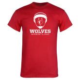 Red T Shirt-Wrestling Design