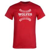 Red T Shirt-Baseball Design