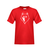 Youth Red T Shirt-Wolf Head