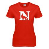 Ladies Red T Shirt-N Mark