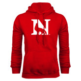 Red Fleece Hood-N Mark