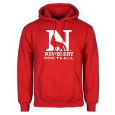 Red Fleece Hood-Football