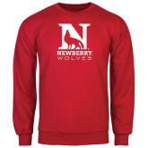 Red Fleece Crew-Official Logo