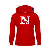 Youth Red Fleece Hoodie-N Mark