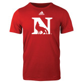 Adidas Red Logo T Shirt-N Mark