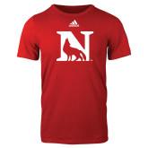 Adidas Red Logo T Shirt-N Mark
