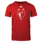 Adidas Red Logo T Shirt-Wolf Head