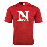Performance Red Heather Contender Tee-N Mark