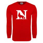 Red Long Sleeve T Shirt-N Mark