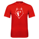 Syntrel Performance Red Tee-Wolf Head