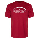 Syntrel Performance Red Tee-Arched Football Design
