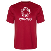 Syntrel Performance Red Tee-Soccer Design