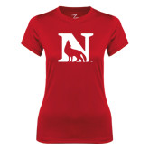 Ladies Syntrel Performance Red Tee-N Mark