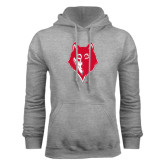 Grey Fleece Hoodie-Wolf Head