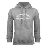 Grey Fleece Hoodie-Arched Football Design