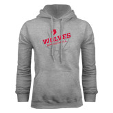 Grey Fleece Hoodie-Basketball Design