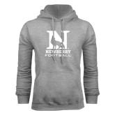 Grey Fleece Hoodie-Football
