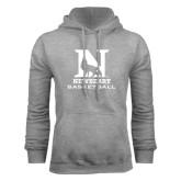 Grey Fleece Hood-Basketball