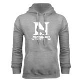 Grey Fleece Hoodie-Wrestling