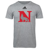 Adidas Sport Grey Logo T Shirt-N Mark