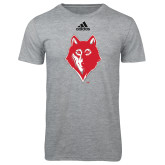 Adidas Sport Grey Logo T Shirt-Wolf Head