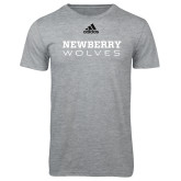Adidas Sport Grey Logo T Shirt-Newberry Wolves