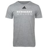 Adidas Sport Grey Logo T Shirt-Newberry Wolves