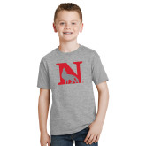 Youth Grey T-Shirt-N Mark