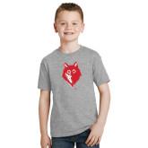 Youth Grey T-Shirt-Wolf Head
