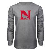 Grey Long Sleeve T Shirt-N Mark