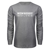 Grey Long Sleeve T Shirt-Newberry Wolves