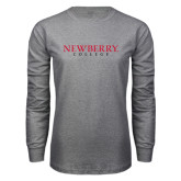 Grey Long Sleeve T Shirt-Newberry College