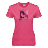 Ladies Fuchsia T Shirt-Official Logo Foil